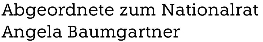 Abgeordnete zum Nationalrat Angela Baumgartner